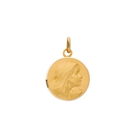 Médaille Vierge ronde, or 9 carats
