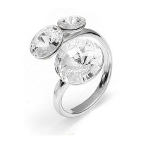 Bague Crystal Jewellery, Cristaux Blancs