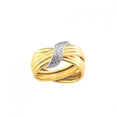 Bague Diamants Fantaisie