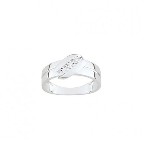 Bague Diamants Trilogie