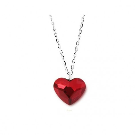 Collier Crystal Jewellery, Coeur rouge
