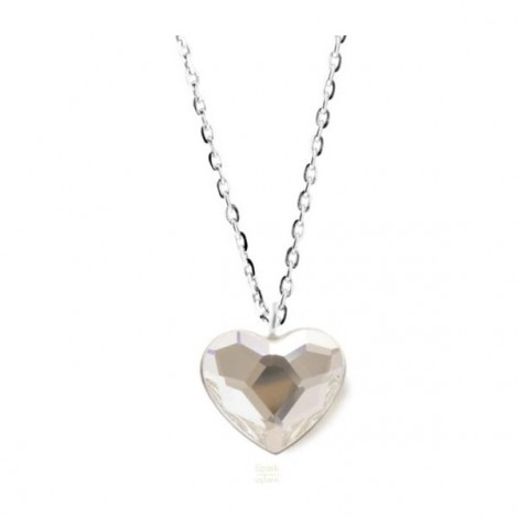 Collier Crystal Jewellery, Coeur blanc
