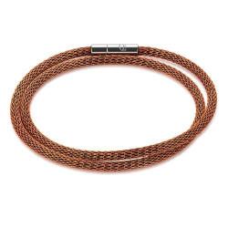 Bracelet Coeur de Lion, Serpentine orangée