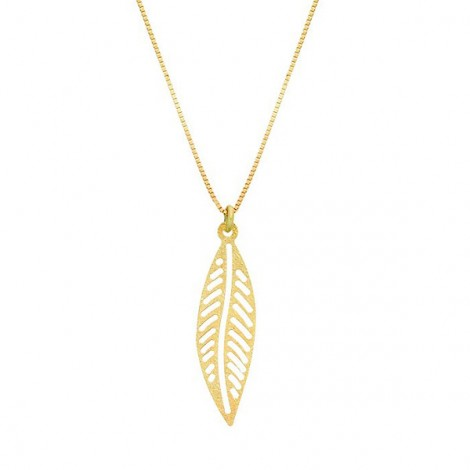 Collier Feuille or 9 carats