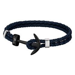 Bracelet Lotus Style, Ancre noire