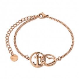 Bracelet Tom Hope, Love rose doré - TM0382