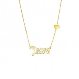 "Collier ""Je t'aime"" en or 9 carats"