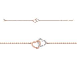 Bracelet Coeurs rose doré
