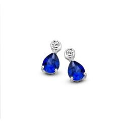 Boucles d'oreilles Naiomy, Bleues - B8N03