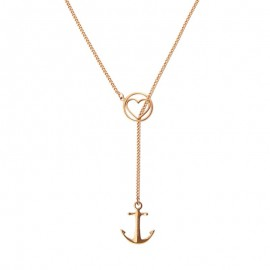 Collier Tom Hope, Love rose doré