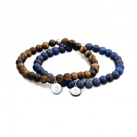 Bracelet Tom Hope, Laguna Marron&Bleu - TM0505