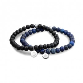 Bracelet Tom Hope, Laguna Noir&Bleu
