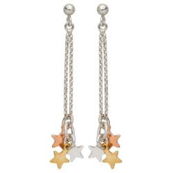 Boucles d'oreilles Etoiles pendants