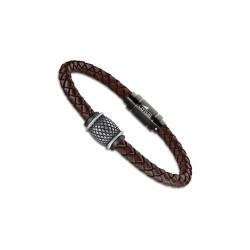 Bracelet Lotus Style, Tressé marron
