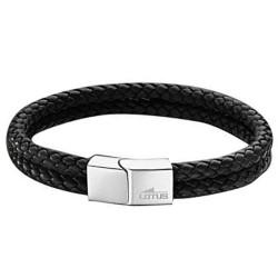 Bracelet Lotus Style, tressé noir - LS2011-2/1