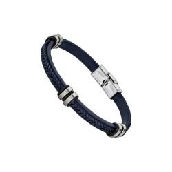 Bracelet Lotus Style, Tressé bleu - LS1829-2/5