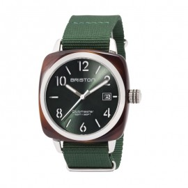 "Montre Briston, Clubmaster Date ""Gold Vert Anglais"""