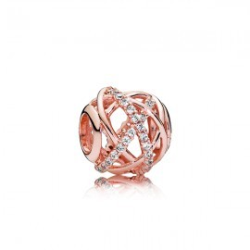 Pandora Perle Galaxie rose ajourée