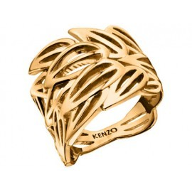 Bague Kenzo, Bamboo plaqué or