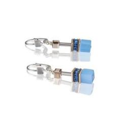 Boucles d'oreilles Coeur de Lion, Geo Cube, Nuance Bleu