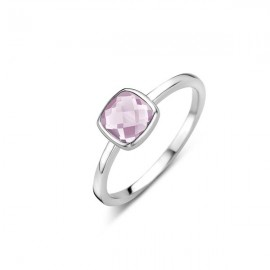 Bague Naiomy, Solitaire rose