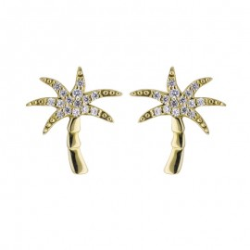 Boucles d'oreilles Palmier en or 9 carats