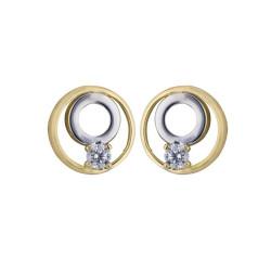 Boucles d'oreilles Cercles en or 9 carats