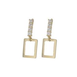 Boucles d'oreilles pendantes Rectangulaire