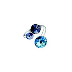 Bague Crystal Jewellery, Cristaux Bleus