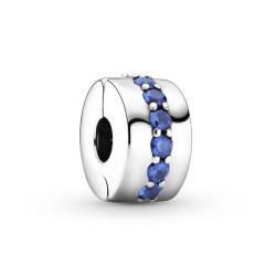 Pandora Clip Eclat bleu - 791972C01
