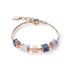 Bracelet Coeur de Lion, Geo Cube, Bleu & doré - 5052/30-0700