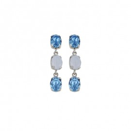 Boucles d'oreilles, Crystal Jewellery, Bleues