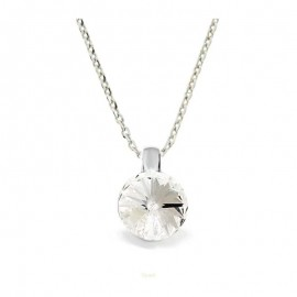 Collier Crystal Jewellery, Solitaire blanc