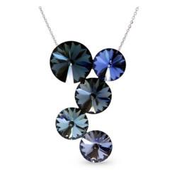 Collier Crystal Jewellery, Camaieu de bleus