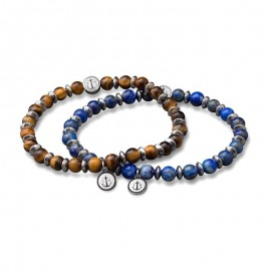 Bracelet Tom Hope, Laguna Marron&Bleu - TM0507