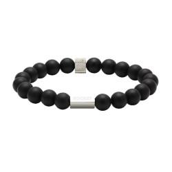 Bracelet Zen perles noires, Rochet