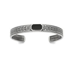 Bracelet Jonc avec agate noire