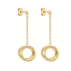 Boucles d'oreilles pendantes Anneaux e or 375 millièmes