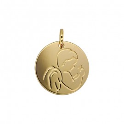 Médaille Ange de profil en or 18 carats