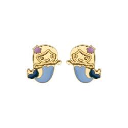 Boucles d'oreilles Sirènes bleues
