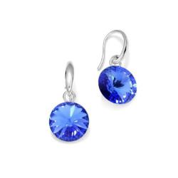Boucles d'oreilles, Crystal Jewellery, Bleu Océan