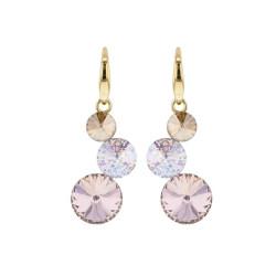 Boucles d'oreilles, Crystal Jewellery, Rivière