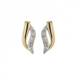 Boucles d'oreilles bicolore Diamants